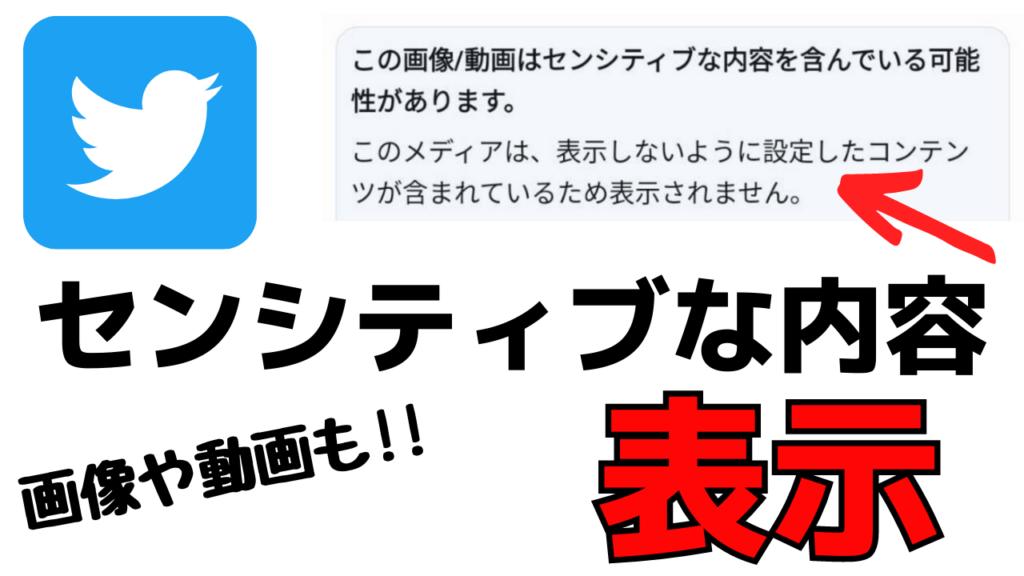 Twitter「センシティブな内容」の画像や動画を見る方法!英語で表示される時の対処法とは?