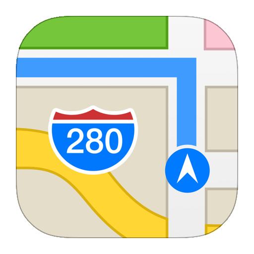 iPhoneマップアプリ画像