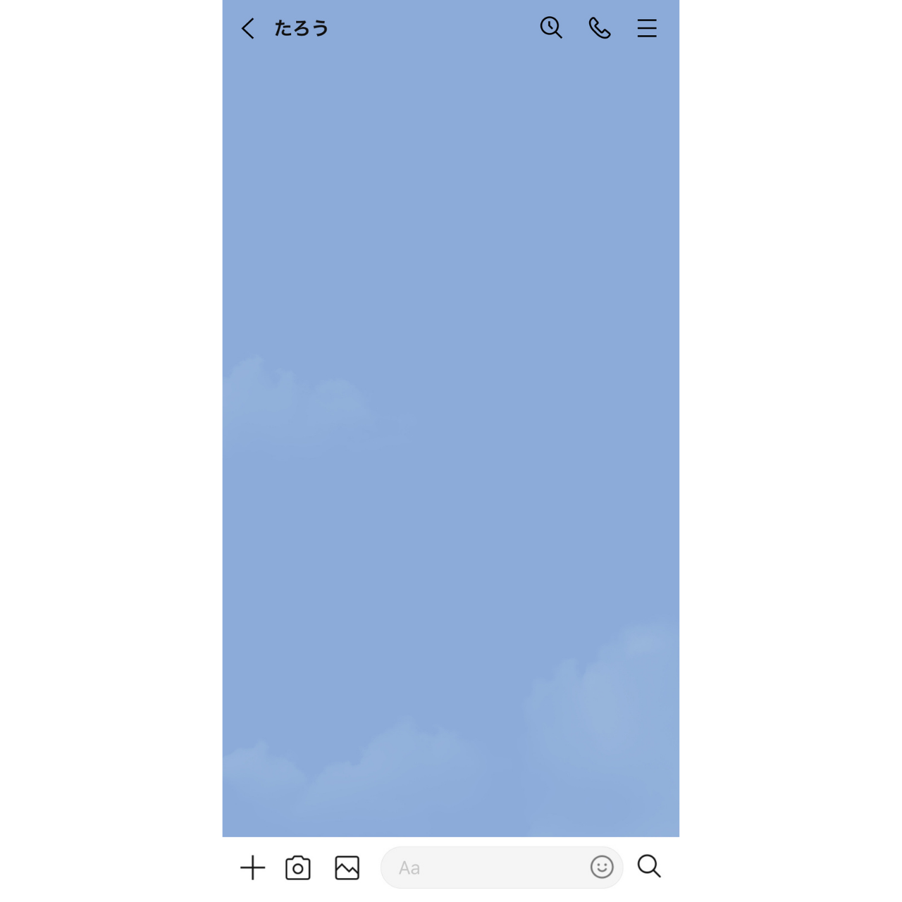 LINEアプリのトーク画面の画像